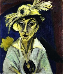 Sick Woman (also known as Woman with Hat or Portrait of Erna Schilling)