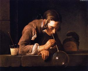 Soap Bubbles (also known as Young Man Blowing Bubbles)