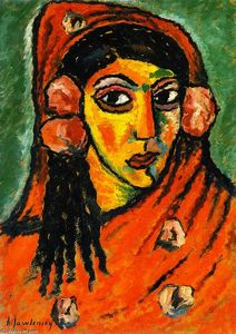 Spanish Woman with Red Veil