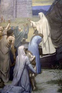 St. Genevieve Bringing Supplies to the City of Paris after the Siege