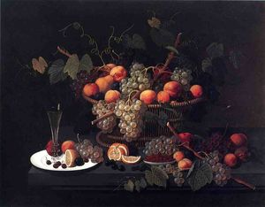 Still Life: Champagne and Fruit