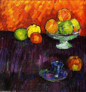Still LIfe with Apples and Blue Cup