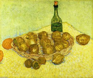 Still Life with a Bottle, Lemons and Oranges