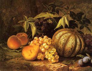 Still Life with Cantaloupe