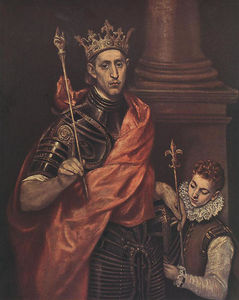 St. Louis King of France with a Page