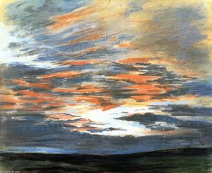 Study of the Sky at Sunset
