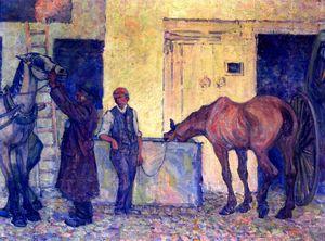 Thirsty Cab Horse