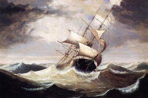 Three-Master on a Грубо Море