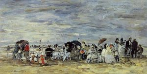 Trouville Beach Scene