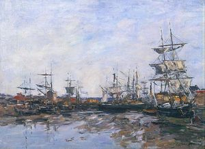 Trouville, the Port at Low Tide