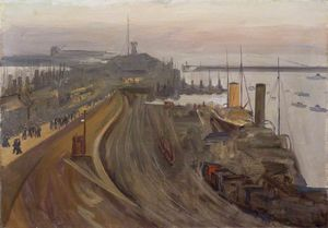Twilight, the Naval Base, Granton