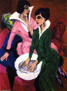 Two Women with a Washbasin