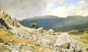 View near Gurzuf (etude)