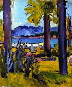 A View of the Côte d'Azur, Circa 1920