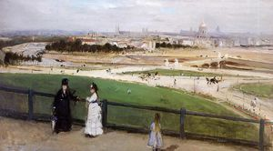 View of Paris from the Trocadero Heights