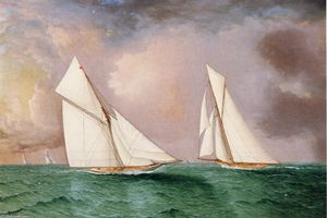 'Vigilant' and 'Valkyrie II' in the 1893 America's Cup Race