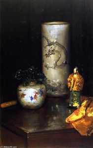 Violets and Still Life (also known as Still Life Violets, Still Life with Chinese Vase)