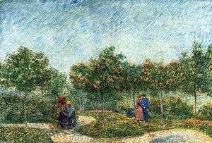 The Voyer d'Argenson Park in Asnieres