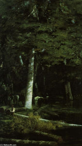 Wood Felling in a Forest