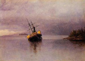 Wreck of the 'Ancon' in Loring Bay, Alaska