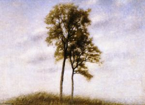 Young Oak Trees