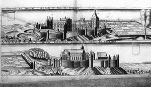Gravure Avec Le Chateau Du Grand-pressigny