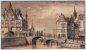 City Facades Of The Rotterdam And Schiedam Gates In Delft