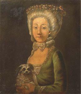 Femme Au Petit Chien