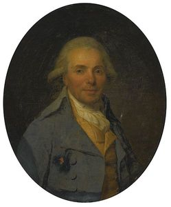 Portrait Of A Man Wearing A Blue Coat