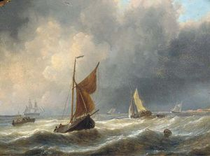 Heavy Weather Off The Dutch Coast