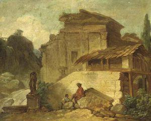 Figures Among Ruins At Tivoli