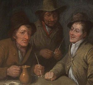 Three Men Conversing