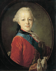 Portrait Of Emperor Paul I As A Child -