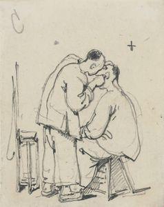 Study Of Two Oriental Men