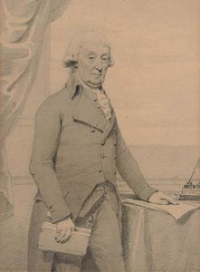 Sir Archibald Edmonstone, 1st Baronet Of Duntreath, Three-quarter-length, Standing By A Writing Table