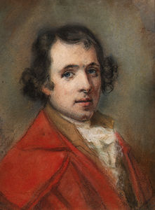 Portrait Of Antonio Canova, Bust-length, In A Red Coat