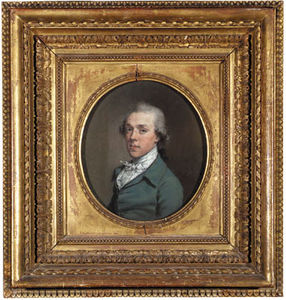 Portrait Of James Colyear Dawkins Of Standlynch, Bust-length, In A Blue-green Coat, With White Stock, Oval