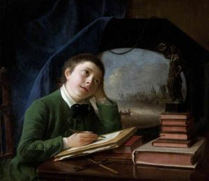 Portrait Of His Son Sketching