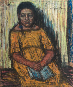 Rachel - A Seated Girl In A Yellow Dress -