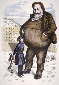 Cartoon Featuring William Marcy 'boss' Tweed