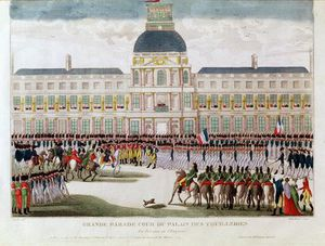 Parade In The Courtyard Of The Palais Des Tuileries