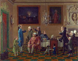 British Gentlemen At Sir Horace Mann's Home In Florence