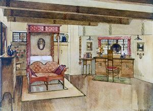 A Bedroom In The Arts & Crafts Style