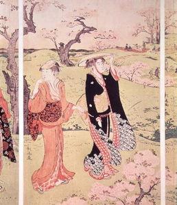 Cherry Blossoms At Asakayama Near Edo
