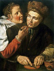 A Man Cutting Tobacco