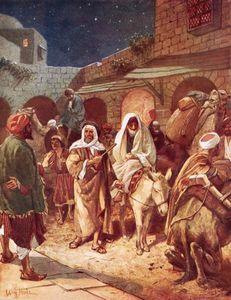 Joseph And Mary Arrive At Bethlehem