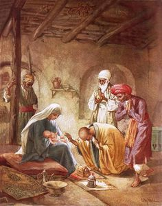 Three Kings Worshipping Christ