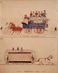 Horse Omnibus And Tramway Car