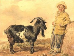 Boy And Goat,