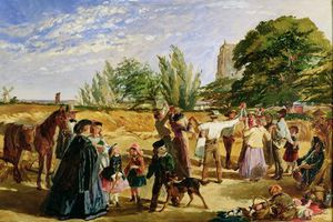 A Harvest Scene In Norfolk